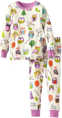 Hatley Little Blue House by Little Girls Kids Pajama Set Party Owls