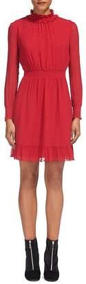Whistles Ilona Dobby Ruffled-Collar Dress $359 thestylecure.com