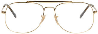 Ray-Ban Gold The General Aviator Glasses