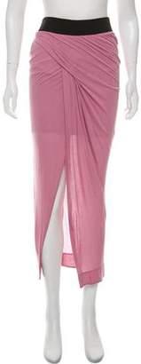 Helmut Lang Ruched Midi Skirt