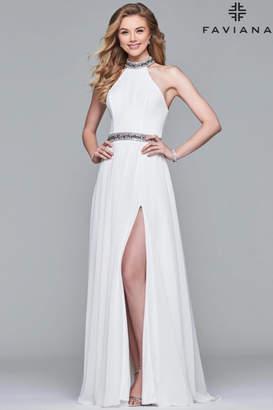 Jovani High Neck Gown