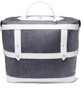 Paravel Leather-trimmed Canvas Weekend Bag - Navy