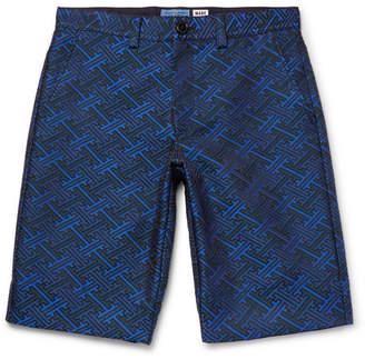 Blue Blue Japan Slim-Fit Satin-Jacquard Shorts