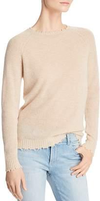 Minnie Rose Distressed Cashmere Crewneck Sweater