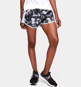 Under Armour Women's UA Fly-By Team Printed Shorts