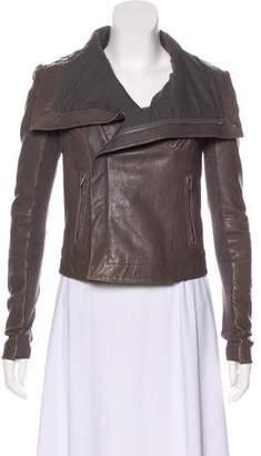 Veda Long Sleeve Leather Jacket