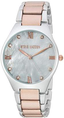 Steve Madden Women's Quartz Silver and Alloy Casual Watch