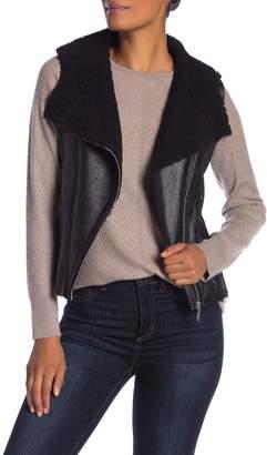 Dolce Cabo Faux Leather & Faux Fur Lined Vest