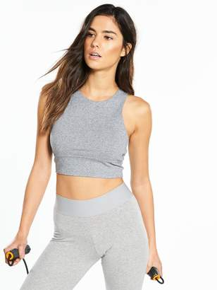a7d1151ed48 adidas Crop Top - Medium Grey Heather
