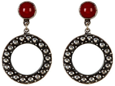 Exex Design Jewelry Sterling Silver Panama Circle Earrings