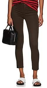 J Brand Women's 485 Mid-Rise Super Skinny Crop Jeans - Green