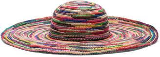 Sensi Studio STUDIO Long Brim Lady Crochet Hat in Multi | FWRD