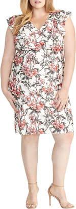 Rachel Roy Ruffled Floral Lace Dress