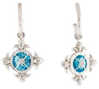 Jude Frances Topaz & Diamond Drop Earrings