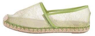 Valentino Leather-Trimmed Lace Espadrilles