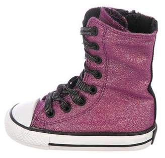 Converse Girls' Metallic Boot Sneakers w/ Tags