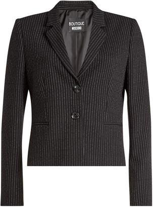 Moschino Pinstriped Virgin Wool Blazer