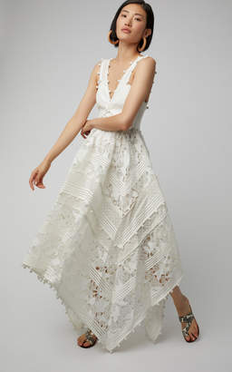 Zimmermann Corsage Embellished Silk-Blend Midi Dress