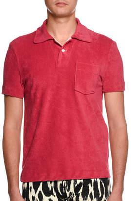 Tom Ford Terry-Cloth Polo Shirt