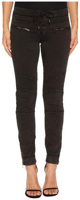 The Kooples Biker Jeggings with Leather Laces Women's Casual Pants