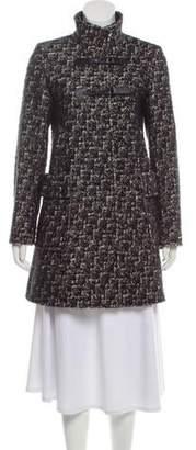 Cinzia Rocca Boucle' Point Collar Coat