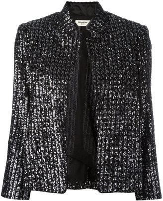 Zadig & Voltaire beaded detail jacket $753.97 thestylecure.com