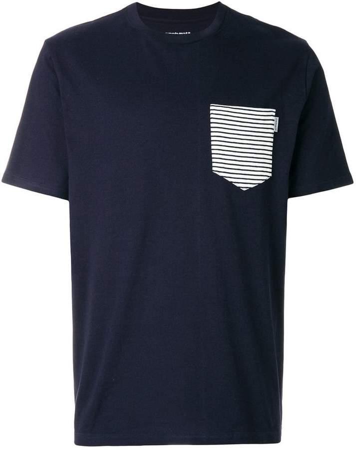T-Shirt mit kontrastierender Brusttasche