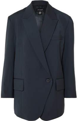 Low Classic Oversized Woven Blazer - Navy
