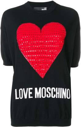 Love Moschino love heart embellished sweater