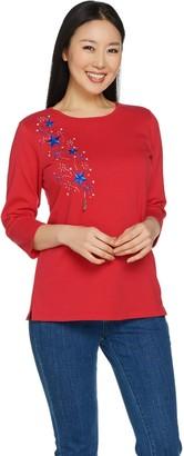 Factory Quacker 3/4 Sleeve T-Shirt with Fun Dangle