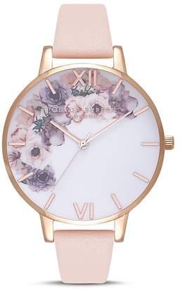 Olivia Burton Watercolour Florals Watch, 38mm
