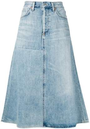 Citizens of Humanity denim A-line skirt