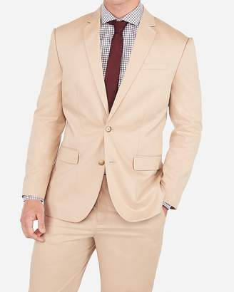 Express Classic Khaki Cotton Stretch Suit Jacket