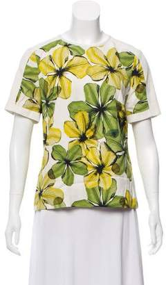 Jason Wu Printed Short Sleeve Top