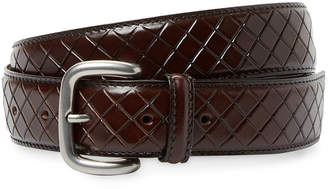 Bottega Veneta Leather Basketweave Belt