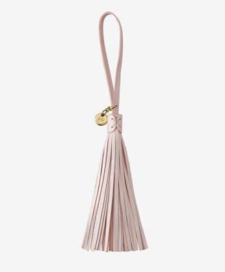 GiGi New York Leather Bag Tassel, Pearl