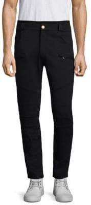 Pierre Balmain Brass Buttoned Cotton Pants