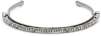 Alexis Bittar Crystal Lace Orbiting Cuff Bracelet