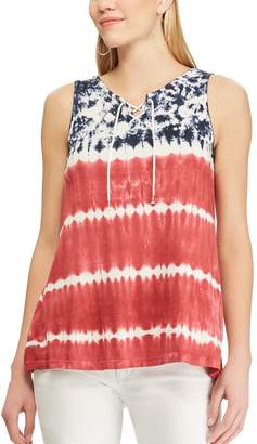 Chaps Women's Patriotic Lace-Up Tank