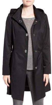 CeCe 'Ellie' Turn Key Raincoat with Detachable Hood $158 thestylecure.com