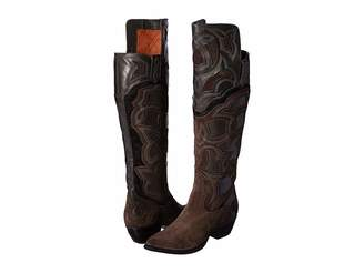 Frye Shane Embroidered Cuff Cowboy Boots