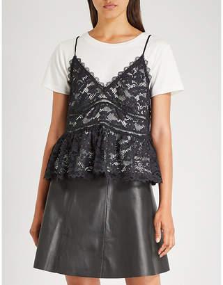 Claudie Pierlot Tescome camisole-layered cotton T-shirt