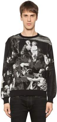 Off-White Caravaggio Cotton Blend Jacquard Sweater