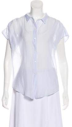 Organic by John Patrick Short Sleeve Button-Up Top