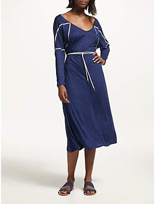 Iden Panelled Jersey Dress, Indigo