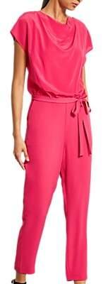 986b9782bcc at John Lewis and Partners · Mint Velvet Cerise Cowl-Neck Silk Jumpsuit