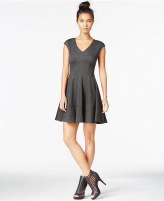 Bar III Cap-Sleeve Fit & Flare Dress, Only at Macy's $79.50 thestylecure.com