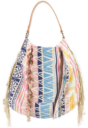 Patrizia Pepe fringed tote bag