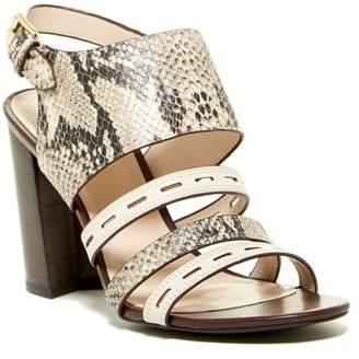 Cole Haan Lavelle Snake Print Block Heel Sandal