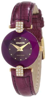 Jowissa Women's 'Facet Strass' Quartz Stainless Steel and Leather Dress Watch
